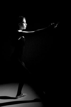 Gorgeous classic dancer black and white photo
