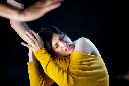 Domestic violence at home photo