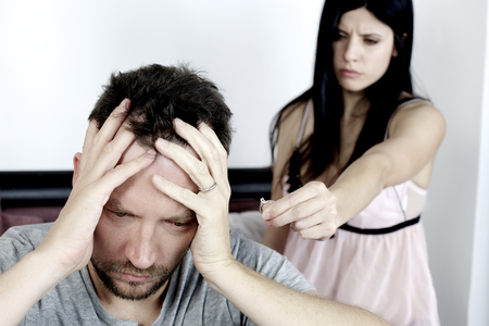 Sad man depressed about love problem with girlfriend