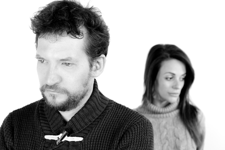in problem: serious couple having marriage problem