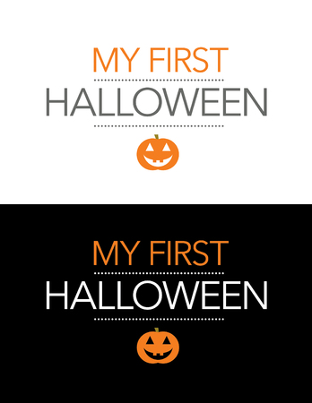 reverse: Vector My First Halloween Graphic