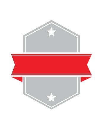 red star: Vector Shield Illustration