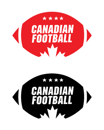canadian football: Vector Canadian Football Icon