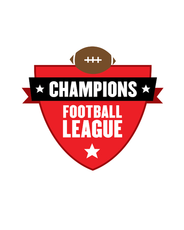 Vector Championship Football League Graphic