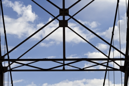 dewey: Geometria strutturale di acciaio cavi Dewey Ponte, storico ponte sospeso in Utah