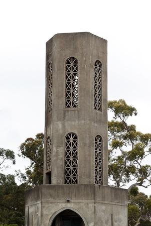 Arthurs 좌석 주립 공원, Mornington 반도, 빅토리아, 호주의 저명한 경계표; 이 전망대는 2012 년에 철거되었습니다. 파크는 포트 필립 베이 (Port Phillip Bay&