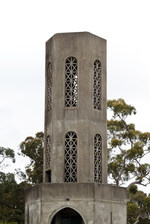 Arthurs Seat State Park, a prominent landmark of the Mornington Peninsula, Victoria, Australia; this lookout tower was demolished in 2012. Park remains an attraction with dramatic views over Port Phillip Bay.