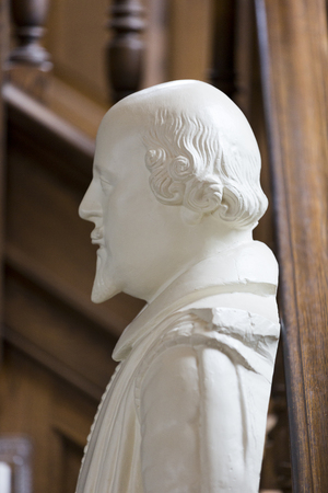 churchill: FULTON, MISSOURI � July 1, 2015: Bust of Shakespeare in Church of St. Mary that houses America�s National Churchill Museum, on the campus of Westminster College, in Fulton, Missouri.