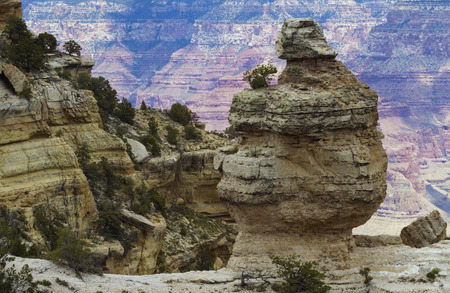 scenic drive: Rock formations are dramatic along Grand Canyons Desert View Scenic Drive in Arizona.