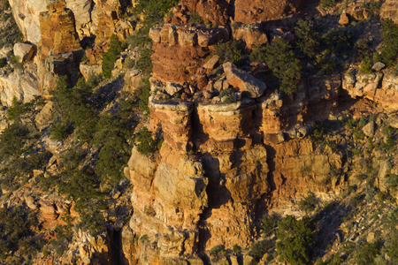 Dramatic rock and columns seen from Navajo Point in Grand Canyon National Park in Arizona, USA.