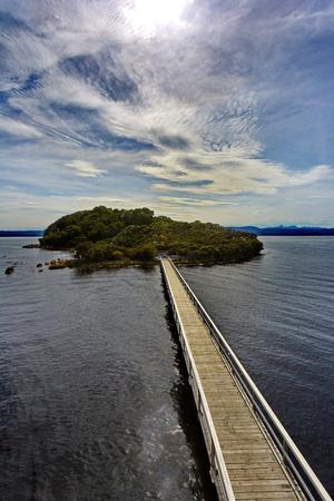 Scenic view of Sarah Island, a former penal settlement in Macquarie Harbour near Strahan, Tasmania, in Australia Reklamní fotografie