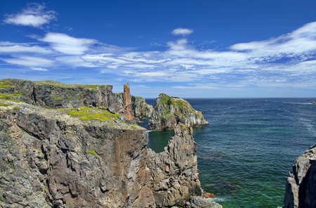 Geological beauty of Spillars Cove in Newfoundland and Labrador, Canada, in coastal destination scenic.