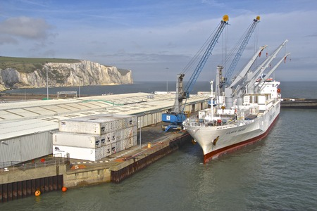 Containership in Dover