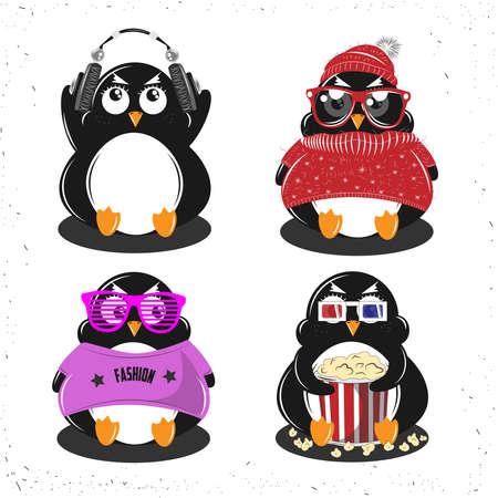 Set Penguin Çizim
