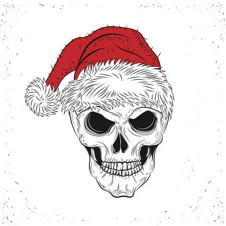 Santa Skull Çizim