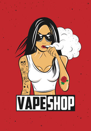 Vape Girl Poster Çizim