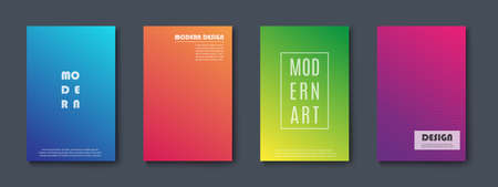 Set of Abstract Banners Modern design.