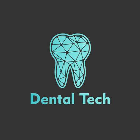 Logo Dental Tech on black