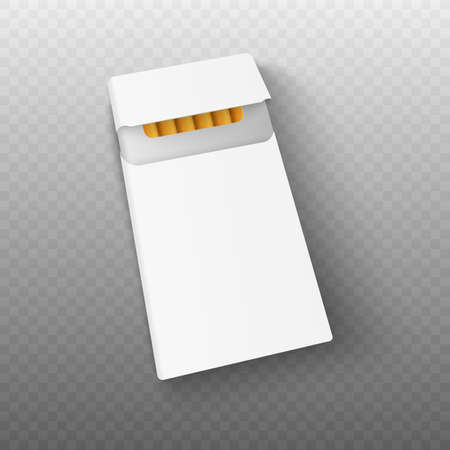 3d realistic pack of cigarettes. Vector illustration