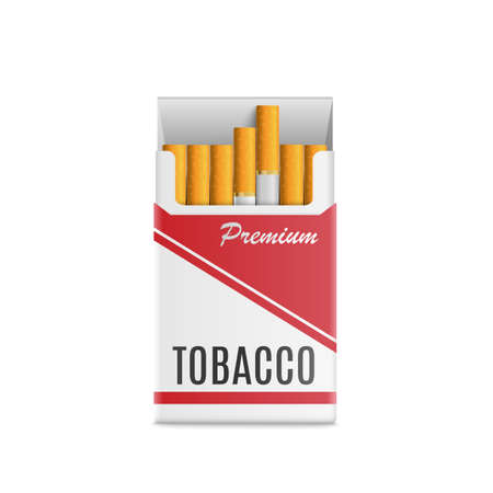Mockup 3d realistic pack of cigarettes. Çizim