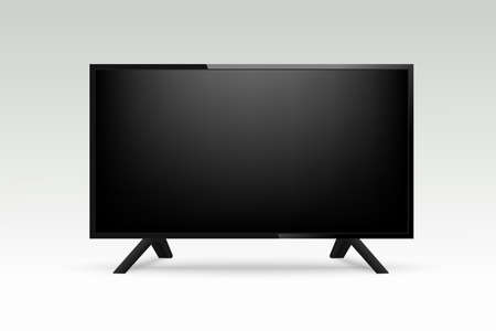 Mockup realistic TV on transparant background. Vector illustration Stockfoto - 123891635