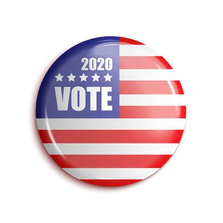 Vote bage USA 2020. On transparent background. Vector illustration
