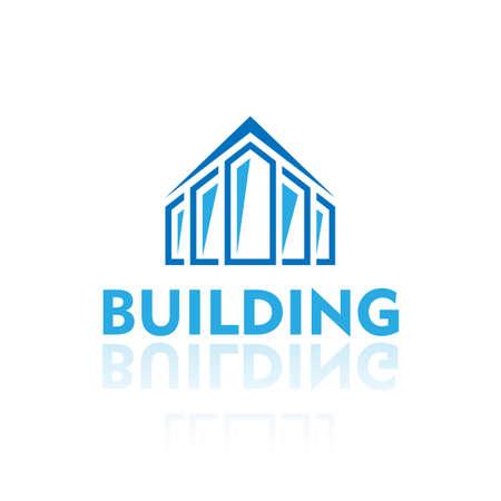 Blue Building Logo on white