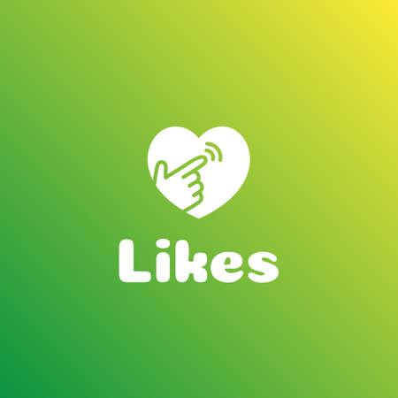 Monochrome Logotype Like Hand and Heart.