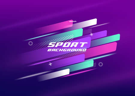 Sport background.Layout design with dynamic shapes for event, tournament or championship. Vector illustration