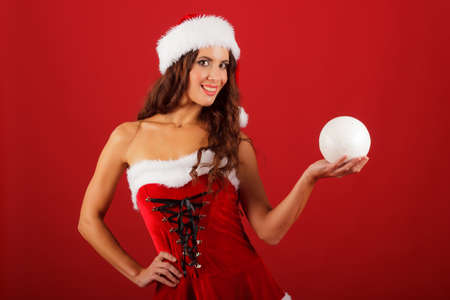 holydays: beautiful christmas woman