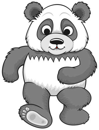 straight walking panda  Vector