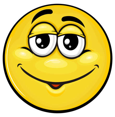 humble: yellow smiley with humble face expression Illustration