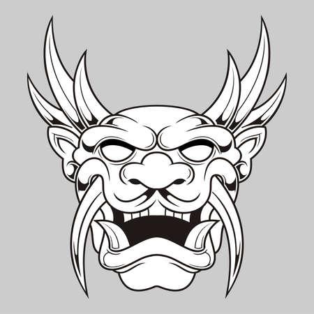 fondo blanco y negro: ilustraci�n de negro blanco m�scara fantasmal