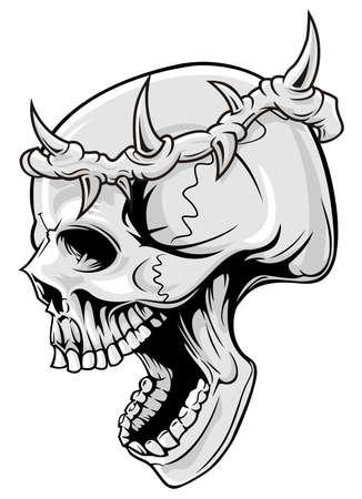 retratos: cr�neo con la corona de espina