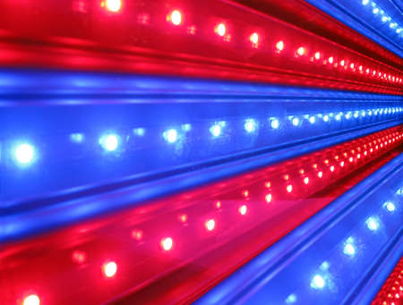 led lighting: red, blue disco power lighting, entertainment details