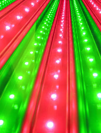 green and red disco power lighting, entertainment details