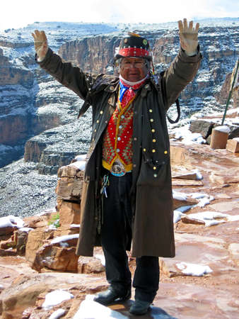 editorial: single indian in national suite near grand canyon, weather diversity