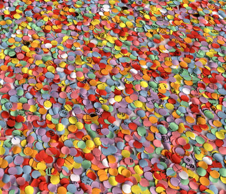 abstract color diversity christmas confetti. background paper texture closeup Stock Photo - 10827109