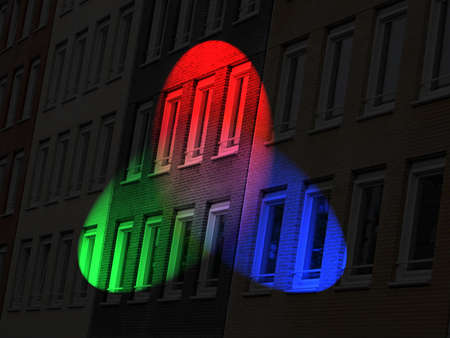 color diversity brick lighting, disco concept Stock Photo - 10923402