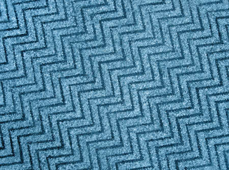 abstract blue zigzag wool carpet background texture, wool closeup details Stock Photo - 10923460