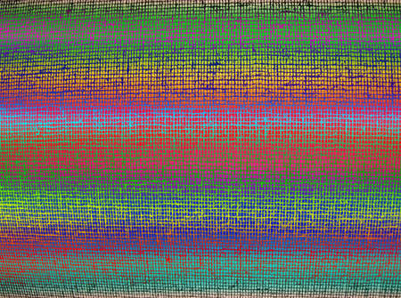 focus on center. abstract chaotic color grid background texture, textile details Stock Photo - 10923456