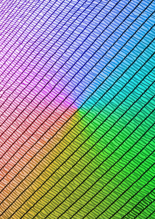 abstract rainbow industrial grid, industry texture closeup Stock Photo - 10923494
