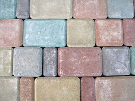focus on center. abstract color stone diversity background, colorful wall details photo