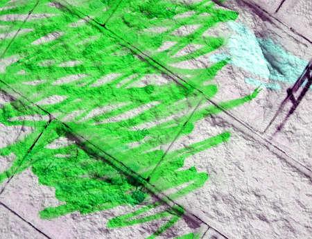 abstract wall graffiti, green painting texture closeup Stock Photo - 11066623