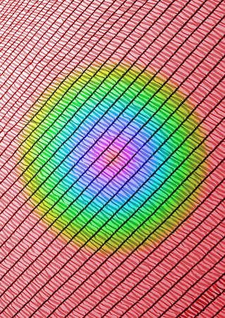 abstract rainbow industrial grid, industry texture closeup photo