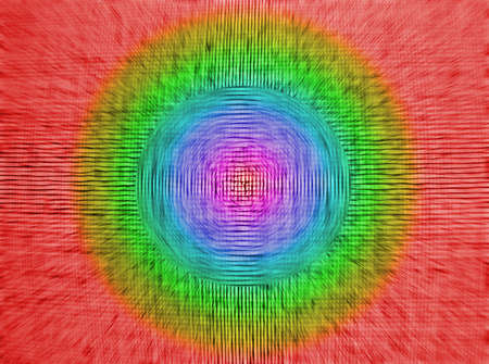 focus on center. abstract chaotic rainbow grid background texture, textile details Stock Photo - 11226843