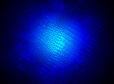 leathern: abstract blue lighting over crocodile skin, science details