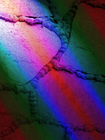 abstract rainbow stone wall, modern power technology details photo