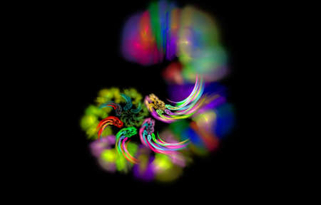 abstract magic hurricane, mystic color lines diversity photo