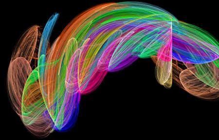 abstract rainbow figure diversity, color illustration Stock Photo